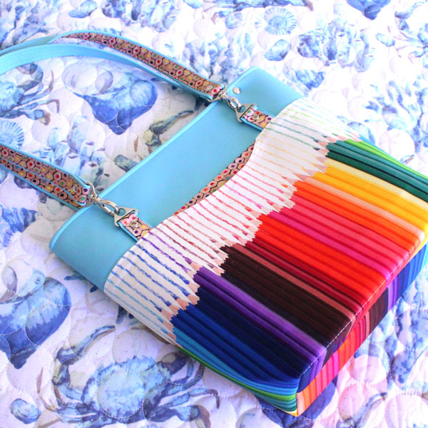 FUN!! Check out this colouring pencils Classic Market Tote! - Andrie Designs