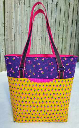 Strawberries, flowers and hot pink - YES! Classic Market Tote - Andrie Designs