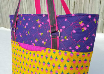 Close up of that gorgeous topstitching detail! Classic Market Tote - Andrie Designs