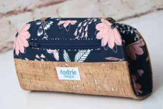 Back view of the Blush Cleo Everyday Wallet - Andrie Designs