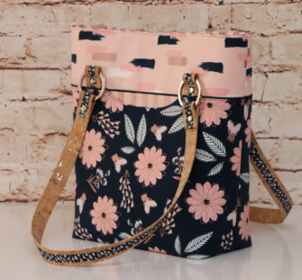 Blush from Riley Blake Classic Market Tote - Andrie Designs