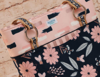 Back of the Blush Classic Market Tote - Andrie Designs