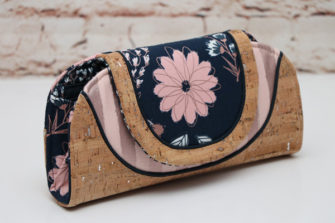 Blush by Riley Blake Designs was used for this Cleo Everyday Wallet - Andrie Designs