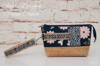 Blush by Riley Blake Designs was used for this Classic Clutch - Andrie Designs
