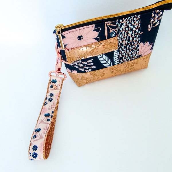 Finished strap on clutch - Andrie Designs