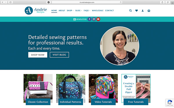 New website for Andrie Designs