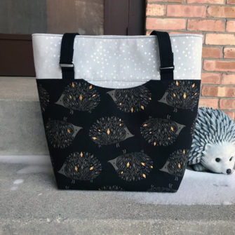 Can't help but love a hedgehog bag, right?! Classic Market Tote - Andrie Designs