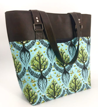 The Classic Market Tote is perfect for large scale prints! - Andrie Designs