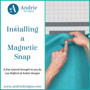 Installing a Magnetic Snap - Andrie Designs