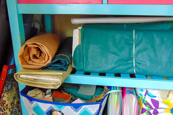 Organizing Leather and scraps - Andrie Designs