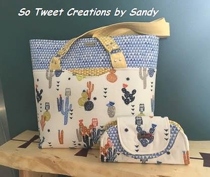 Sandras Classic Market Tote - Andrie Designs