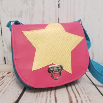 Bright 'star' motif That Flap Saddlebag - Andrie Designs