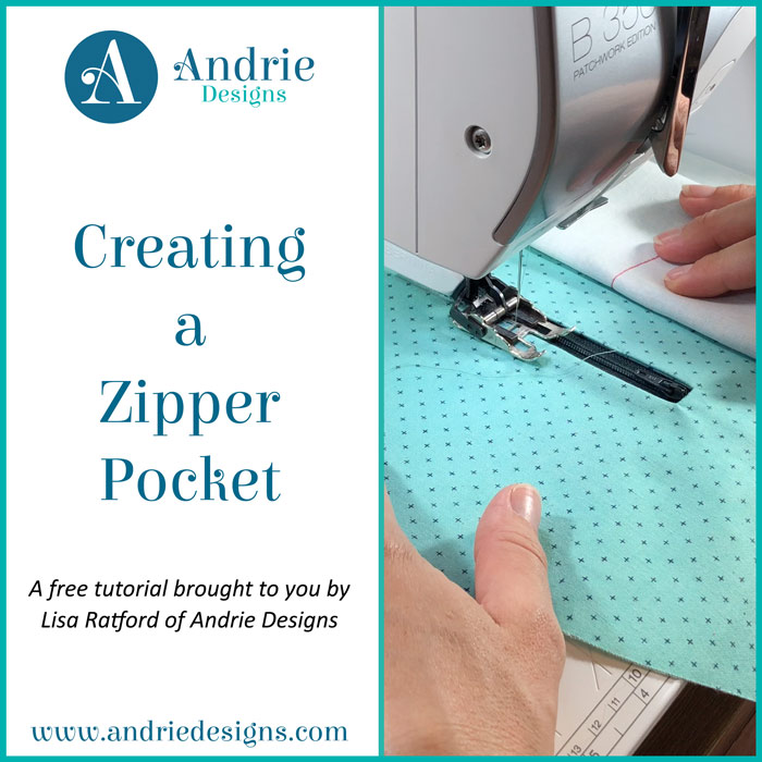 Creating a Zipper Pocket - Andrie Designs