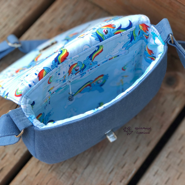 Inside the 'rainbow' motif That Flap Saddlebag - Andrie Designs
