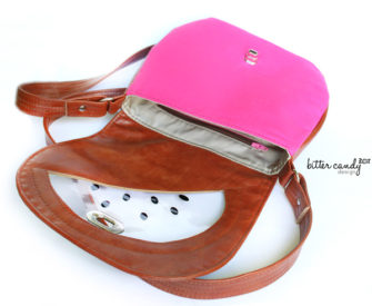 Inside the 'watermelon' motif That Flap Saddlebag - Andrie Designs