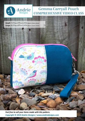 Andrie Designs - Gemma Carryall Pouch - Comprehensive Video Class