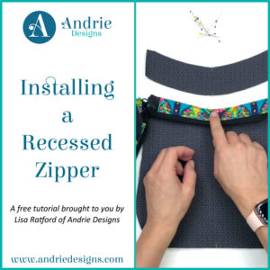 Installing a Recessed Zipper Panel - Andrie Designs