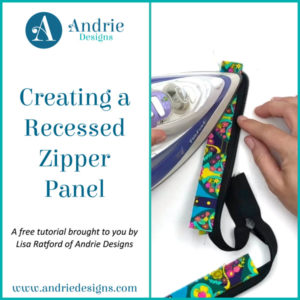 Creating a Recessed Zipper Panel - Andrie Designs