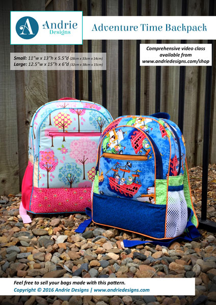Andrie Designs - Adventure Time Backpack