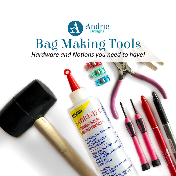 Bag Making Tools Hardware and Notions - Andrie Designs