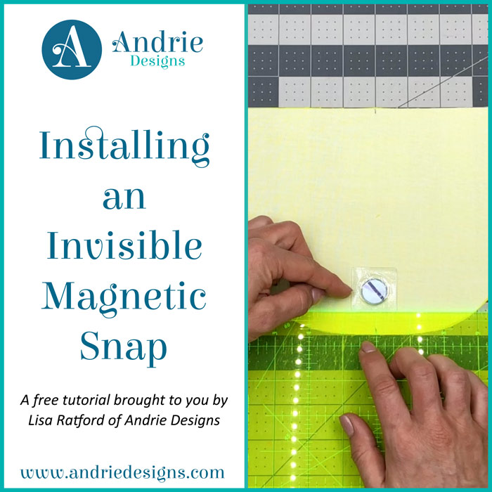 Installing an Invisible Magnetic Snap - Andrie Designs