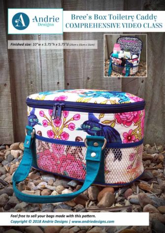Andrie Designs - Bree's Box Toiletry Caddy - Comprehensive Video Class