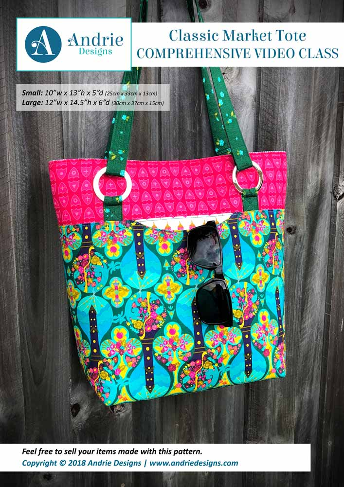 Andrie Designs - Classic Market Tote - Comprehensive Video Class