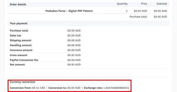 Payment processed in Paypal- FAQ Post #5 - Andrie Designs