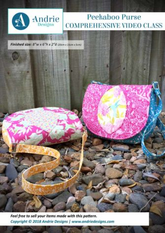 Andrie Designs - Peekaboo Purse - Comprehensive Video Class