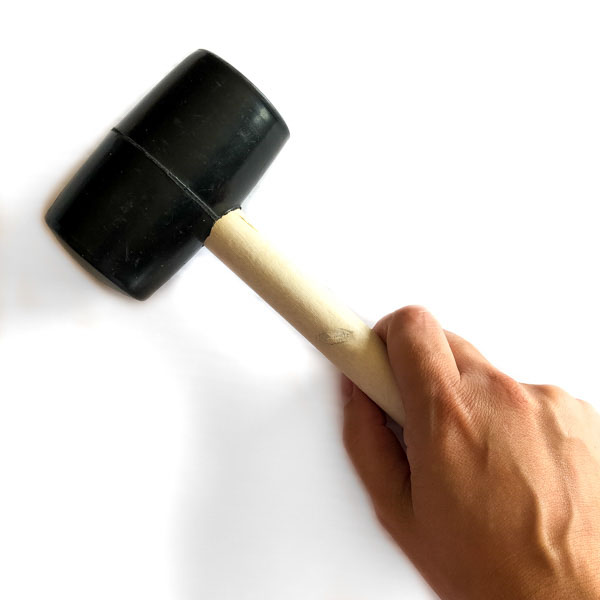 Rubber mallet for snaps and rivets - Andrie Designs