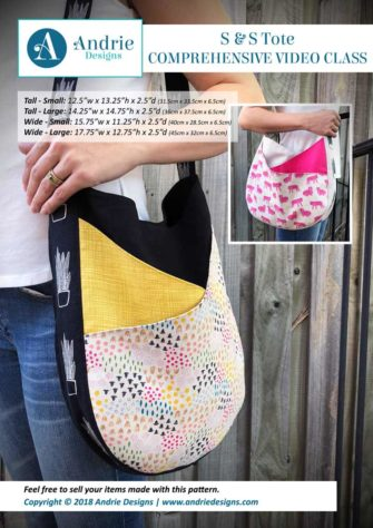Andrie Designs - S & S Tote - Comprehensive Video Class