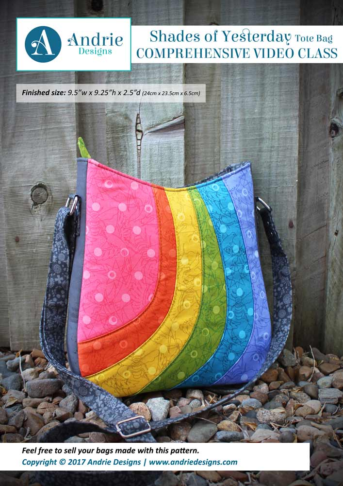 Andrie Designs - Shades of Yesterday Tote Bag - Comprehensive Video Class