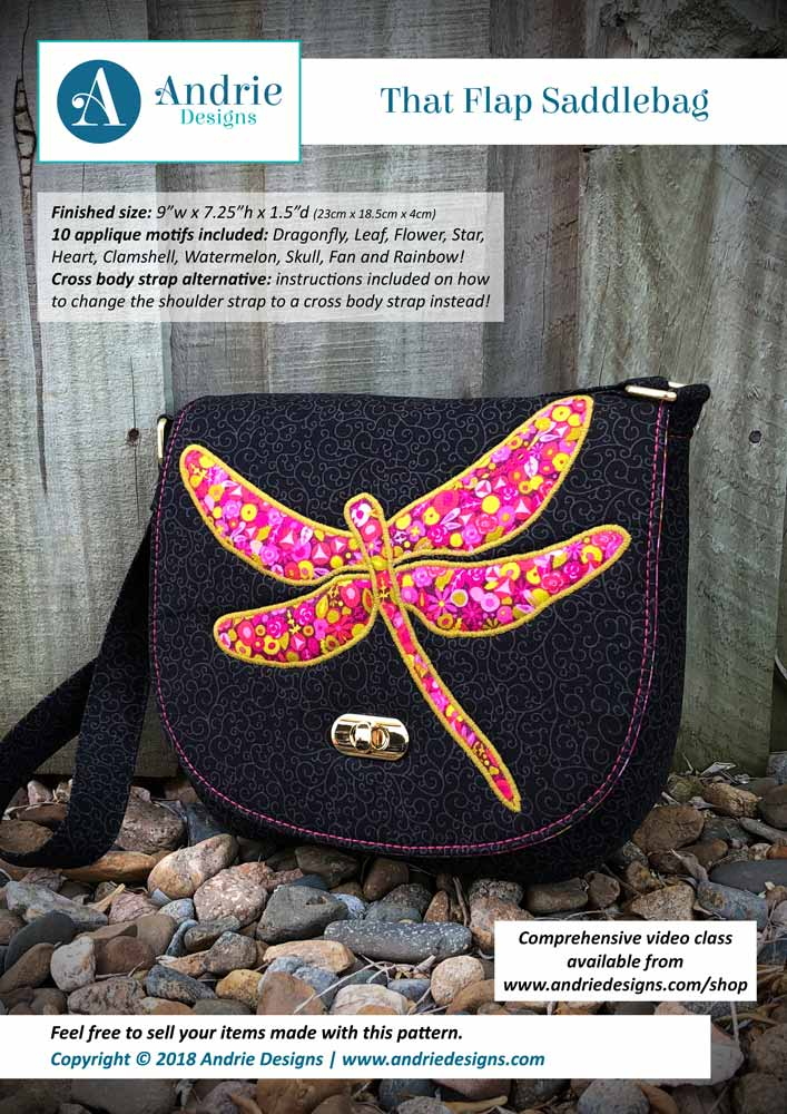 Andrie Designs - That Flap Saddlebag