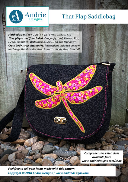 Andrie Designs - That Flap Saddlebag