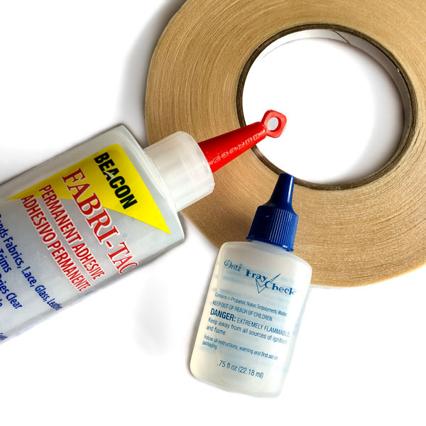 Various glues and tapes you need - Andrie Designs