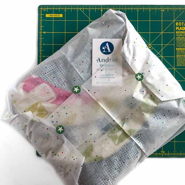All wrapped in tissue - Shipping Handmade Bags - Andrie Designs
