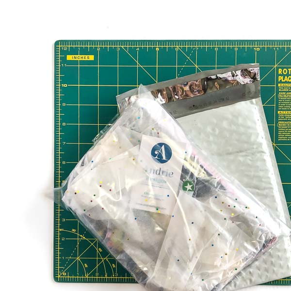 During wet seasons in a baggie - Shipping Handmade Bags - Andrie Designs