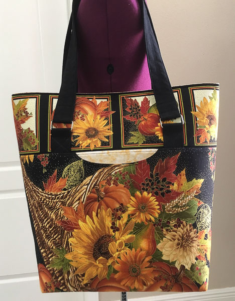Marian's Classic Market tote - Customer Creations - August 2019 - Andrie Designs