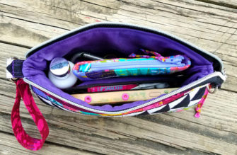Beelieve V Pouch in use - Andrie Designs