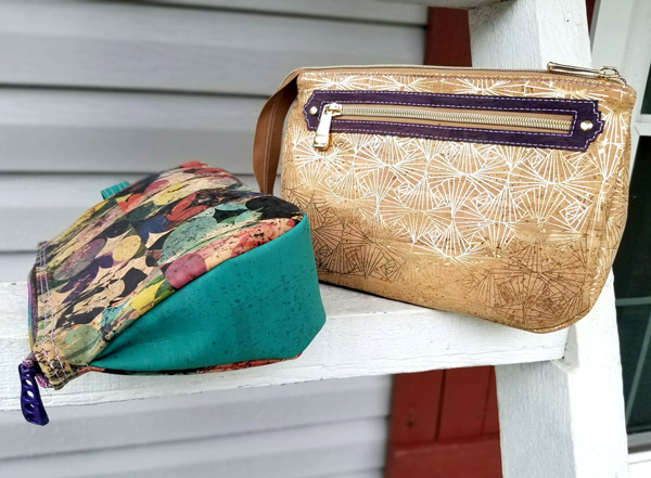 Pair of cork V Pouches - Andrie Designs