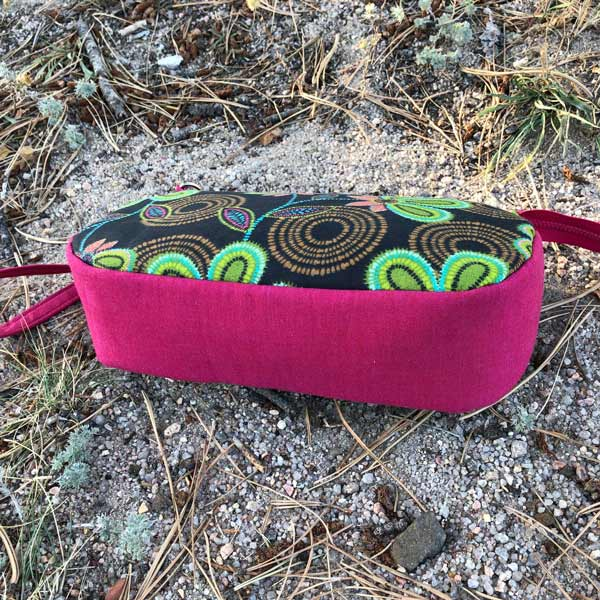 Fuchsia gusset for the textured floral V Pouch - Andrie Designs