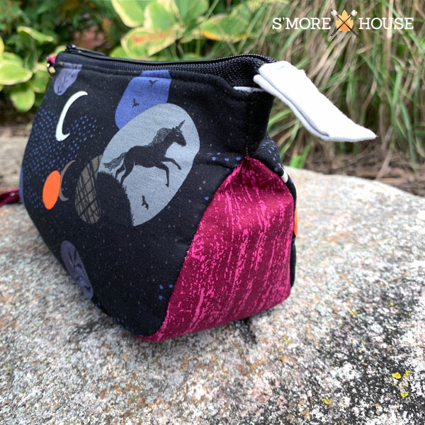 Gusset shot of the Into the Night V Pouch - Andrie Designs