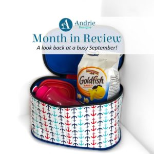 Andrie Designs Month in Review - September 2019