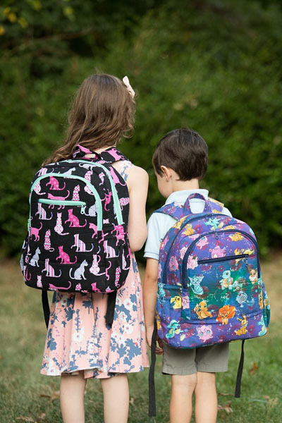 Chris' Adventure Time Backpacks - Andrie Designs Customer Creations - September 2019
