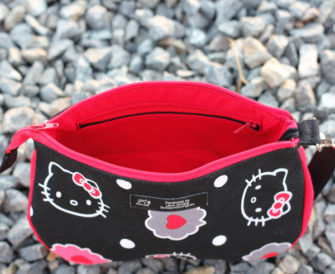Interior of the Hello Kitty-themed V Pouch - Andrie Designs
