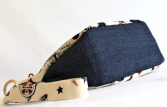 Bottom view of the mermaid ladies V Pouch - Andrie Designs