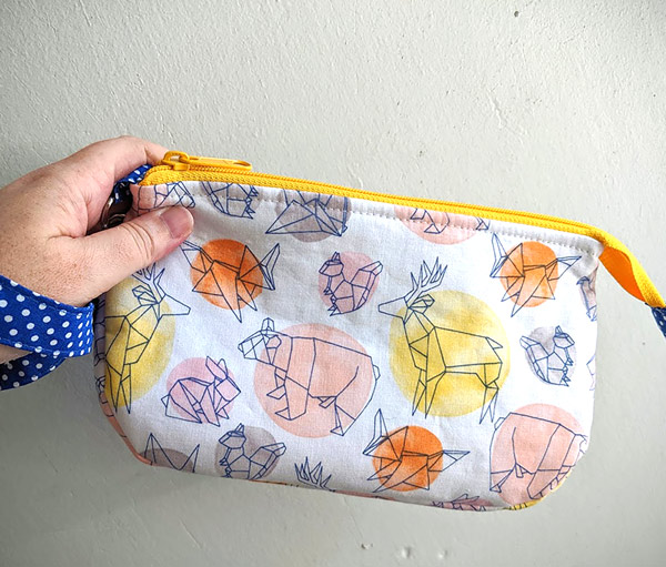 Geometric animals V Pouch - Andrie Designs