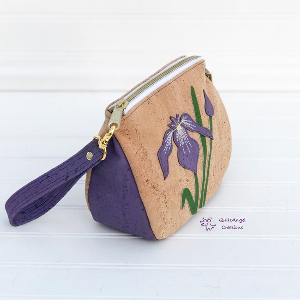 Floral and cork V Pouch - Andrie Designs