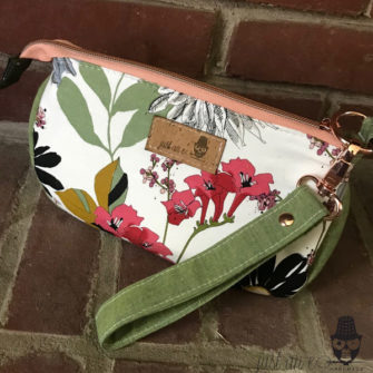 Rear view of the Ghastlies V Pouch - Andrie Designs