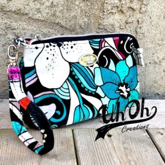 Bold floral V Pouch - Andrie Designs